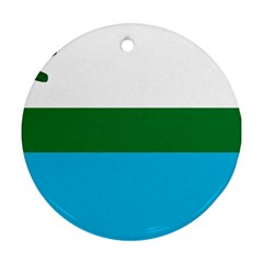 Flag Of Labrador Round Ornament (two Sides) by abbeyz71