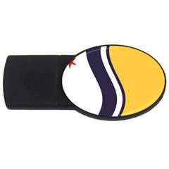Flag Of South Bend, Indiana Usb Flash Drive Oval (2 Gb)