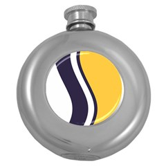 Flag Of South Bend, Indiana Round Hip Flask (5 Oz) by abbeyz71