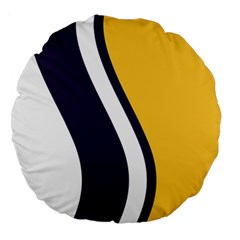 Flag Of South Bend, Indiana Large 18  Premium Round Cushions by abbeyz71