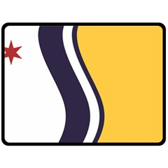 Flag Of South Bend, Indiana Double Sided Fleece Blanket (large)