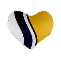 Flag Of South Bend, Indiana Standard 16  Premium Flano Heart Shape Cushions by abbeyz71