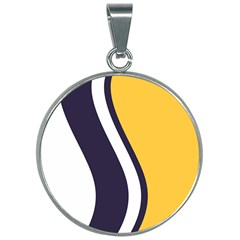 Flag Of South Bend, Indiana 30mm Round Necklace by abbeyz71