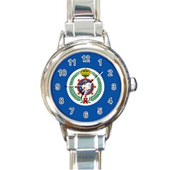 Naval Jack Of Saudi Arabia Round Italian Charm Watch