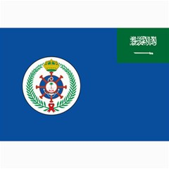 Naval Base Flag Of Royal Saudi Arabian Navy Canvas 24  X 36  by abbeyz71