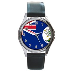 Flag Of Vancouver Island Round Metal Watch by abbeyz71