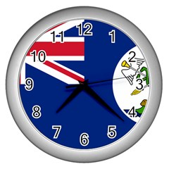 Flag Of Vancouver Island Wall Clock (silver) by abbeyz71