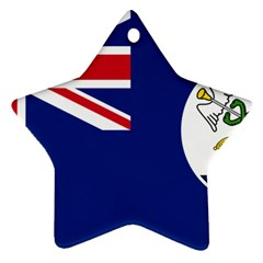 Flag Of Vancouver Island Star Ornament (two Sides) by abbeyz71