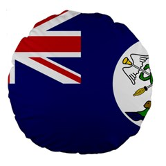 Flag Of Vancouver Island Large 18  Premium Round Cushions by abbeyz71