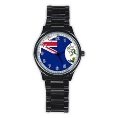 Flag Of Vancouver Island Stainless Steel Round Watch by abbeyz71