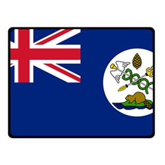 Flag Of Vancouver Island Double Sided Fleece Blanket (small)  by abbeyz71