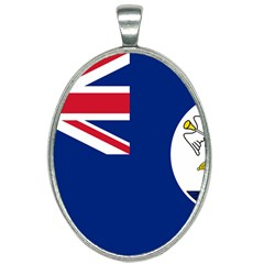 Flag Of Vancouver Island Oval Necklace by abbeyz71