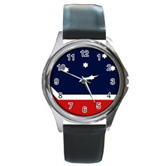 Flag Of Western Canada Round Metal Watch by abbeyz71