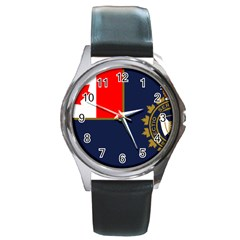 Flag Of Canada Border Services Agency Round Metal Watch by abbeyz71