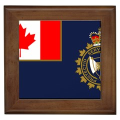 Flag Of Canada Border Services Agency Framed Tiles by abbeyz71