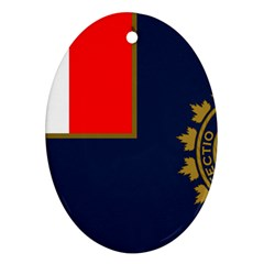 Flag Of Canada Border Services Agency Ornament (oval) by abbeyz71