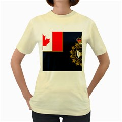 Flag Of Canada Border Services Agency Women s Yellow T Shirt by abbeyz71