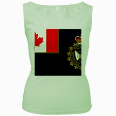 Flag Of Canada Border Services Agency Women s Green Tank Top by abbeyz71