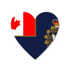 Flag Of Canada Border Services Agency Heart Magnet by abbeyz71
