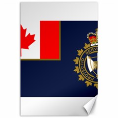 Flag Of Canada Border Services Agency Canvas 12  X 18  by abbeyz71
