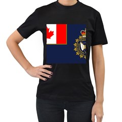 Flag Of Canada Border Services Agency Women s T Shirt (black) by abbeyz71