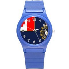 Flag Of Canada Border Services Agency Round Plastic Sport Watch (s) by abbeyz71