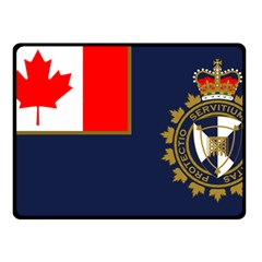 Flag Of Canada Border Services Agency Double Sided Fleece Blanket (small)  by abbeyz71
