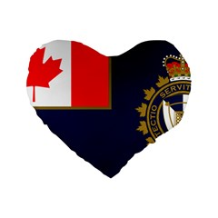 Flag Of Canada Border Services Agency Standard 16  Premium Flano Heart Shape Cushions by abbeyz71