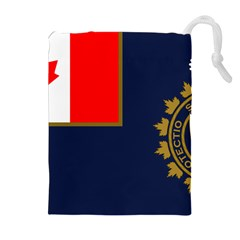 Flag Of Canada Border Services Agency Drawstring Pouch (xl) by abbeyz71