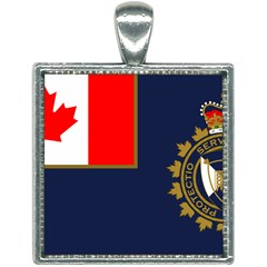 Flag Of Canada Border Services Agency Square Necklace by abbeyz71