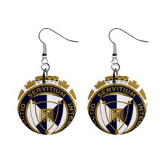 Badge Of Canada Border Services Agency Mini Button Earrings by abbeyz71