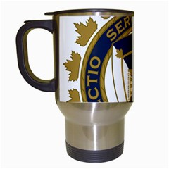 Badge Of Canada Border Services Agency Travel Mugs (white) by abbeyz71