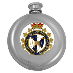 Badge Of Canada Border Services Agency Round Hip Flask (5 Oz) by abbeyz71