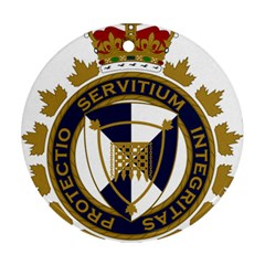 Badge Of Canada Border Services Agency Round Ornament (two Sides) by abbeyz71
