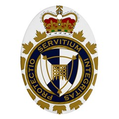 Badge Of Canada Border Services Agency Oval Ornament (two Sides)