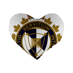 Badge Of Canada Border Services Agency Standard 16  Premium Flano Heart Shape Cushions by abbeyz71