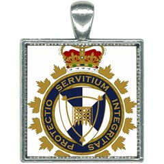 Badge Of Canada Border Services Agency Square Necklace by abbeyz71