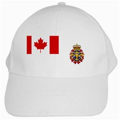 Flag Of Canadian Armed Forces White Cap by abbeyz71