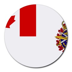 Flag Of Canadian Armed Forces Round Mousepads by abbeyz71