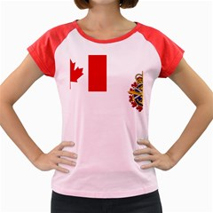 Flag Of Canadian Armed Forces Women s Cap Sleeve T Shirt