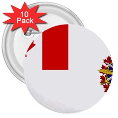 Flag Of Canadian Armed Forces 3  Buttons (10 Pack)