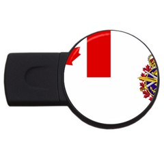 Flag Of Canadian Armed Forces Usb Flash Drive Round (4 Gb) by abbeyz71