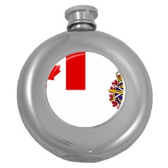 Flag Of Canadian Armed Forces Round Hip Flask (5 Oz) by abbeyz71
