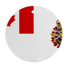 Flag Of Canadian Armed Forces Round Ornament (two Sides) by abbeyz71