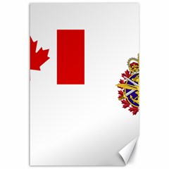Flag Of Canadian Armed Forces Canvas 24  X 36  by abbeyz71