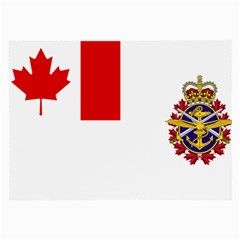 Flag Of Canadian Armed Forces Large Glasses Cloth (2 Side) by abbeyz71