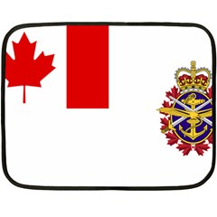 Flag Of Canadian Armed Forces Double Sided Fleece Blanket (mini)  by abbeyz71