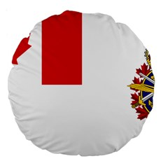 Flag Of Canadian Armed Forces Large 18  Premium Round Cushions by abbeyz71