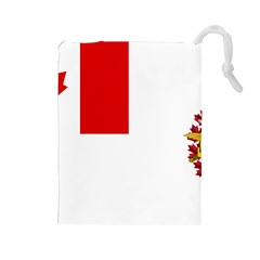 Flag Of Canadian Armed Forces Drawstring Pouch (large) by abbeyz71