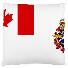 Flag Of Canadian Armed Forces Large Flano Cushion Case (one Side) by abbeyz71